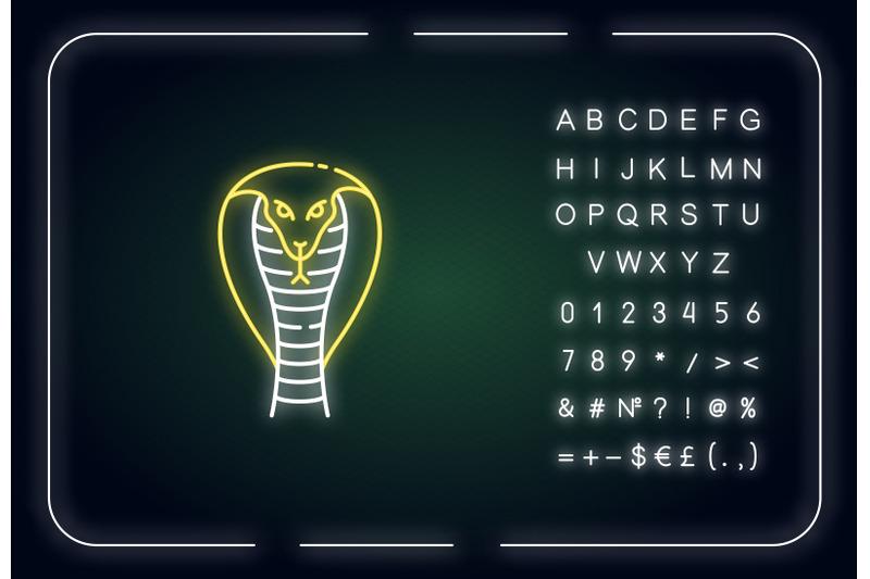 king-cobra-neon-light-icon