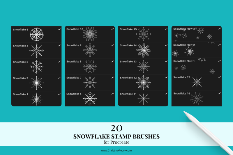 snowflake-stamp-brushes-for-procreate