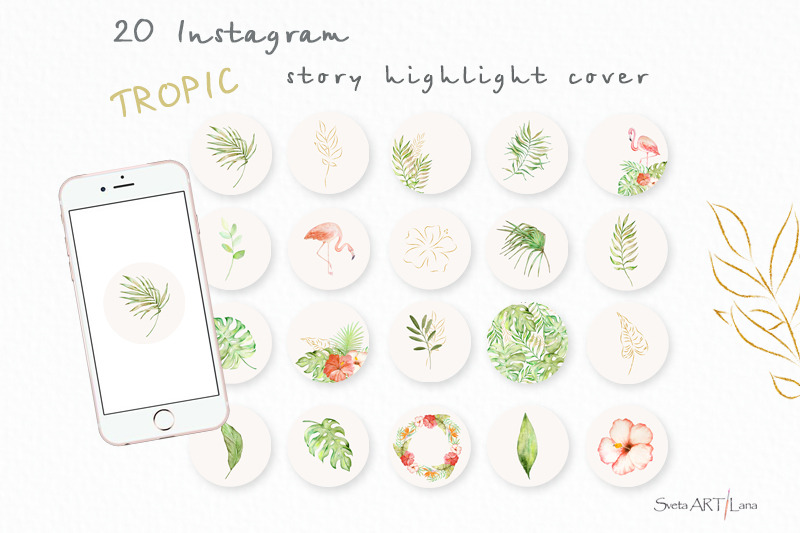 instagram-story-highlight-covers-watercolor-boho-tropic