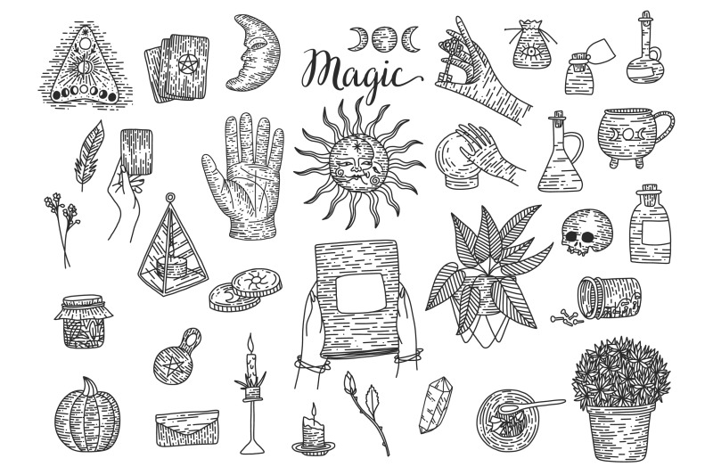magic-collection-engraving-style