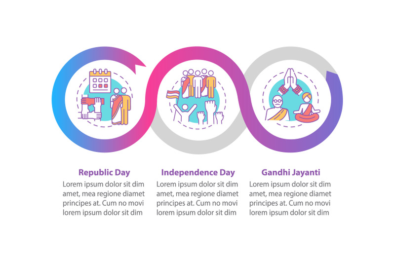 national-indian-holidays-vector-infographic-template
