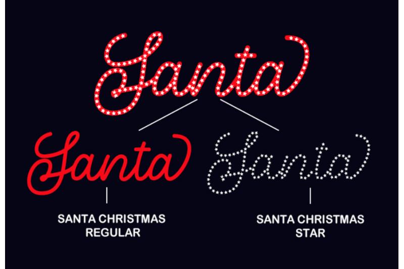 santa-christmas-a-cute-holiday-font