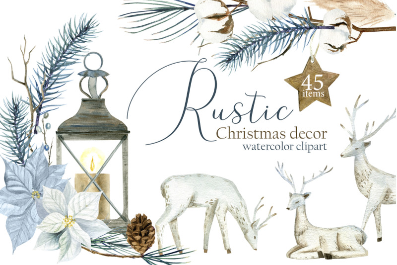 watercolor-rustic-christmas-clipart