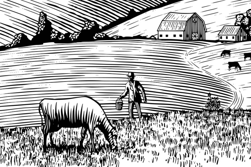 farmer-and-his-cow
