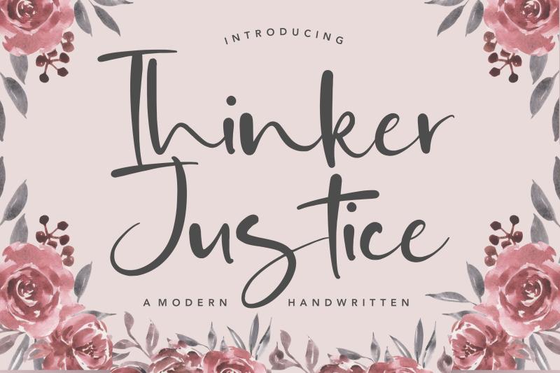 thinker-justice-modern-handwritten-font