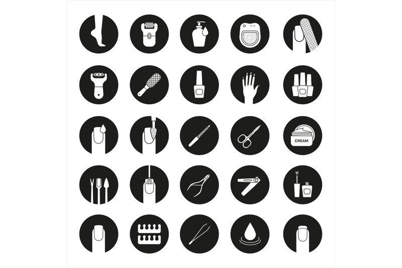 manicure-and-pedicure-icons-set