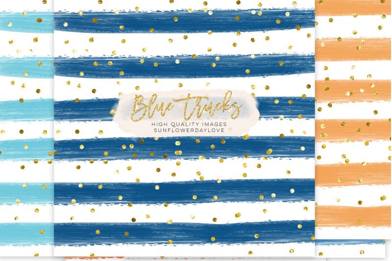 blue-stripe-digital-paper-blue-stripes-scrapbook-paper-pack
