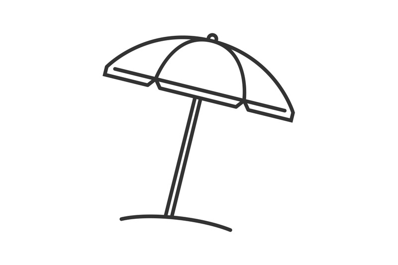 beach-umbrella-linear-icon