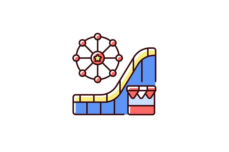 amusement-and-theme-park-rgb-color-icon