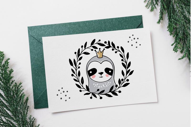 christmas-sloths-sloth-clipart