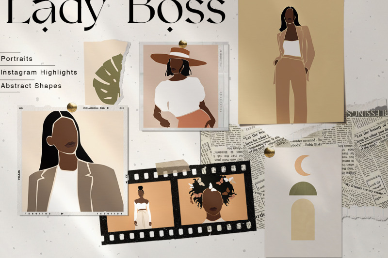lady-boss-woman-abstract-portraits