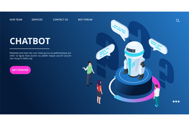 chatbot-landing-page-isometric-ai-robot-with-people-artificial-intel