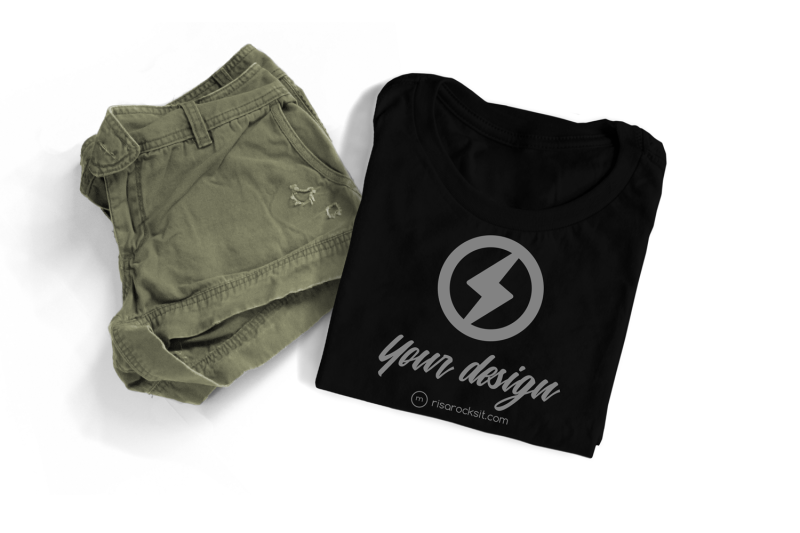 folded-tee-with-shorts-png-mock-up