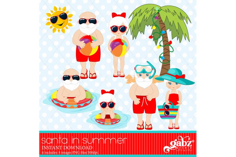 santa-in-summer-christmas-holidays-santa-and-mrs