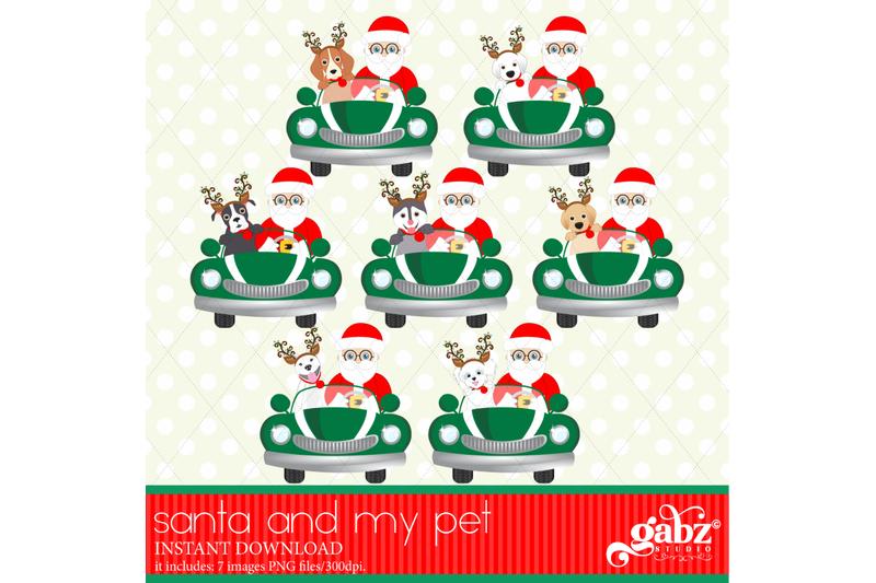 santa-and-my-pet-christmas-pets-santa-claus