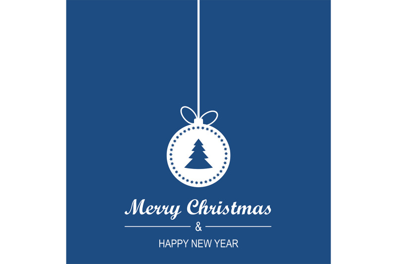 blue-christmas-and-new-year-greeting-card-design