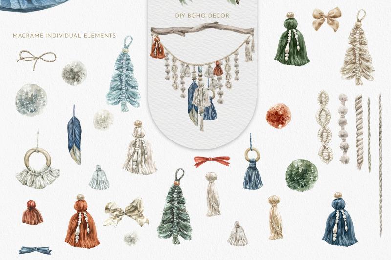 christmas-modern-boho-decor-watercolor-set