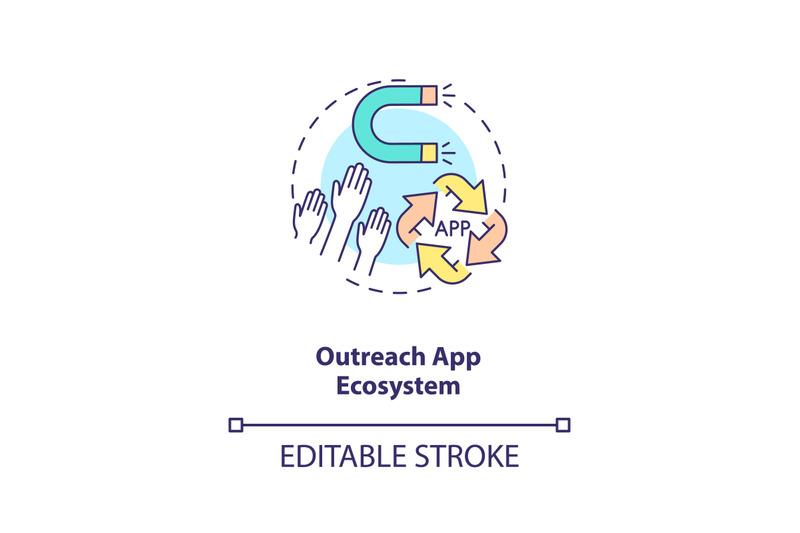 outreach-app-ecosystem-concept-icon