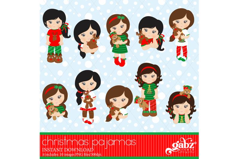 christmas-pajamas-clipart-girls-holidays-pajamas