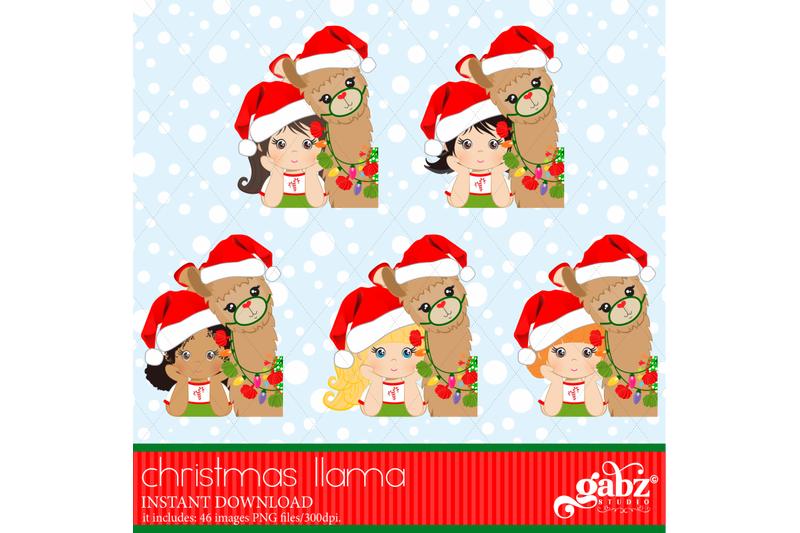 my-christmas-llama-christmas-llama-girl-and-brown-llama