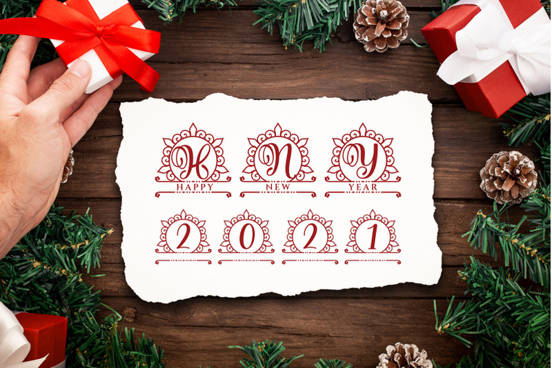 holiday-monogram