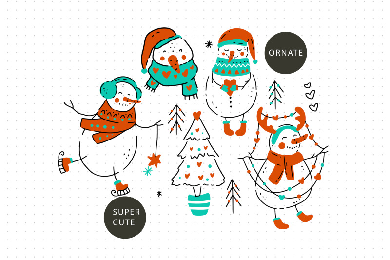 snowman-christmas-graphic-pack