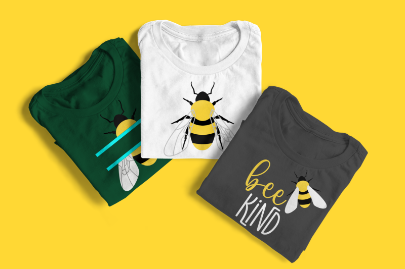 bee-kind-with-realistic-bee-svg-png-dxf-eps