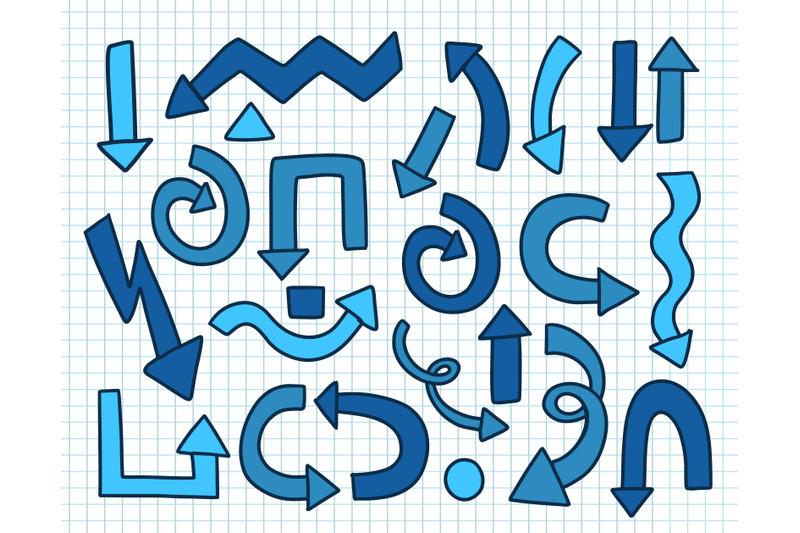 arrow-set-doodle-blue-color