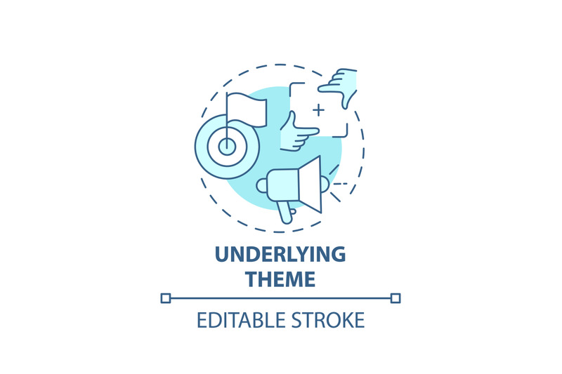 underlying-theme-concept-icon