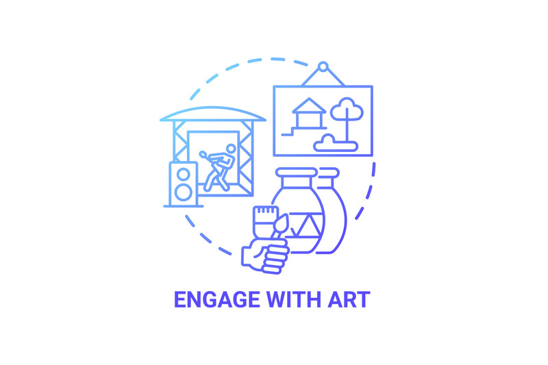 engage-with-art-concept-icon