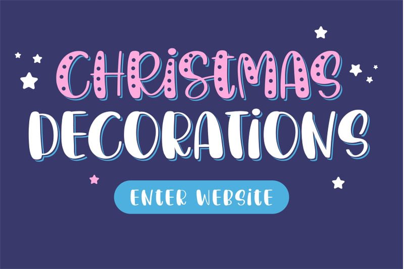christmas-decorations-a-fun-handwritten-font