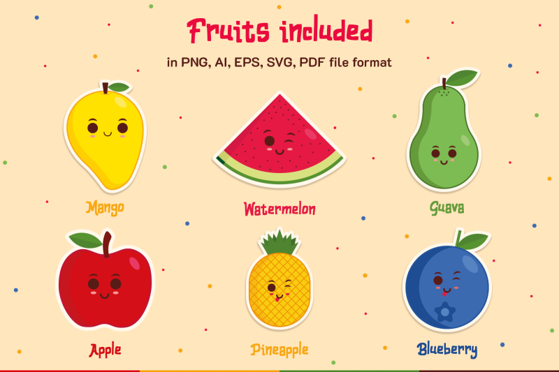fruits-stickers-and-illustrations