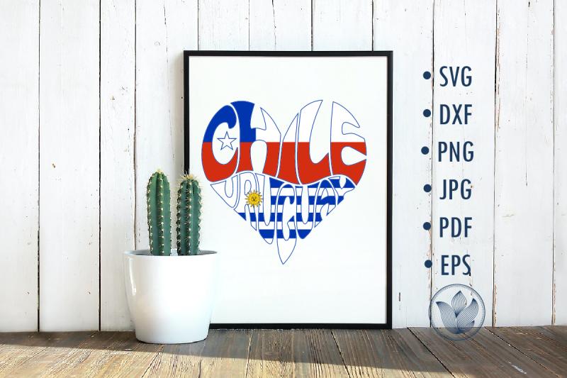 chile-uruguay-heart-sublimation-design
