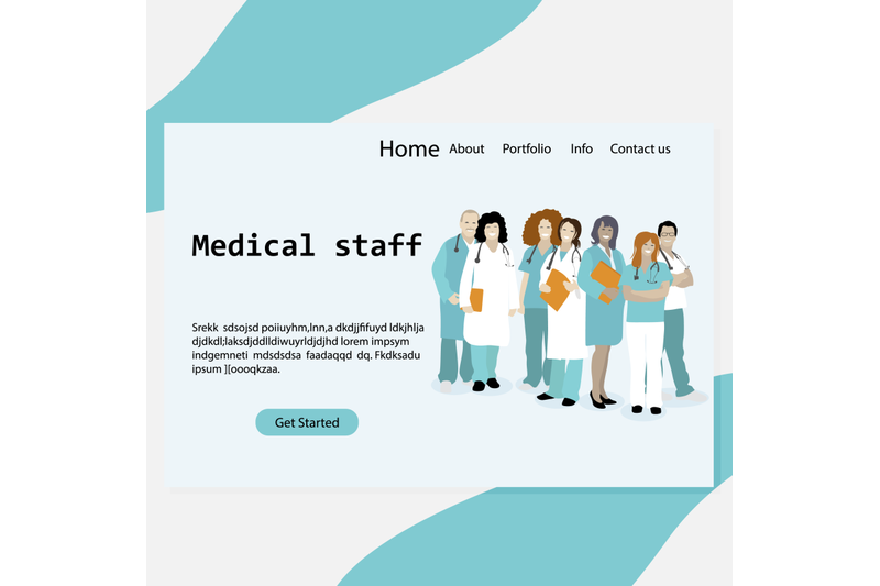landing-page-medical-staff-clinic-or-hospital-homepage