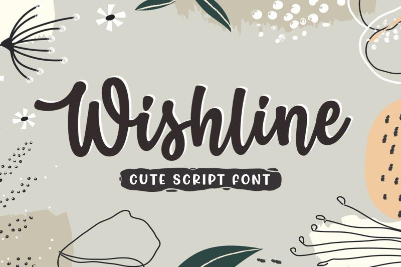 wishline-cute-script-font