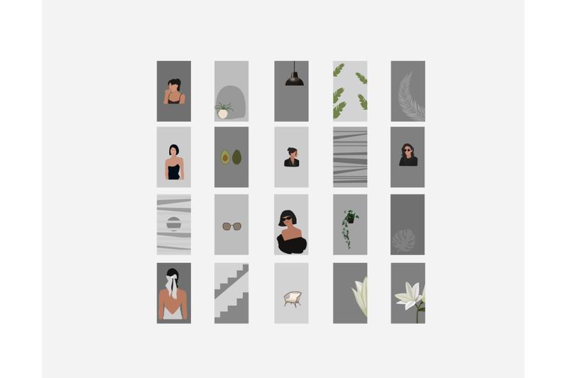girl-instagram-templates-blank-insta-backgrounds-abstract-instagram