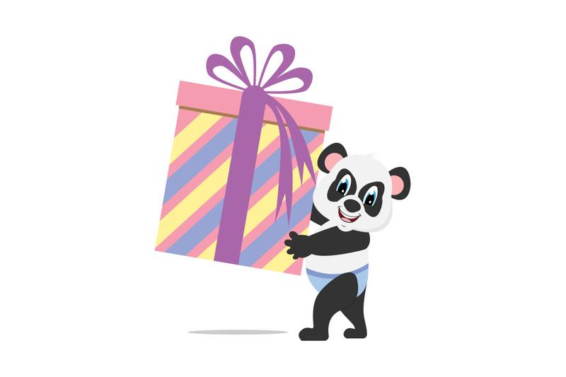baby-panda-with-gift