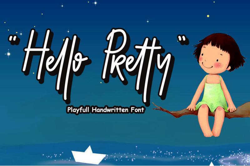 hello-pretty-playful-font-layered