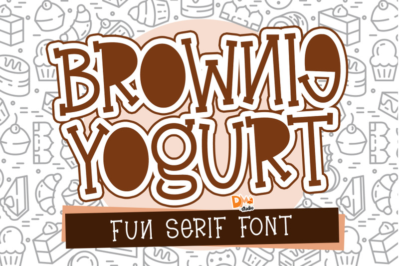 brownie-yogurt-fun-serif-font