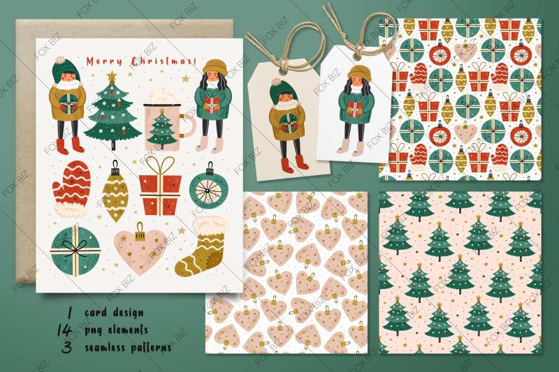 merry-christmas-card-elements-seamless-patterns