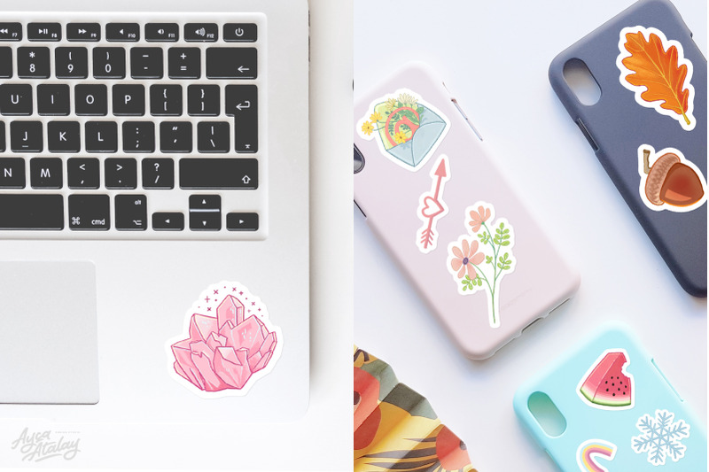 aesthetic-stickers-bundle-hand-drawn-printables
