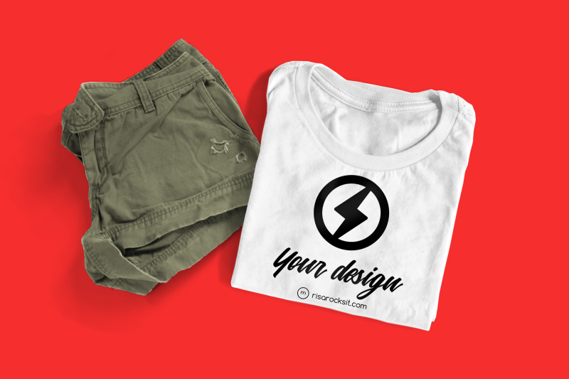 tee-with-shorts-and-sneakers-photoshop-mock-up
