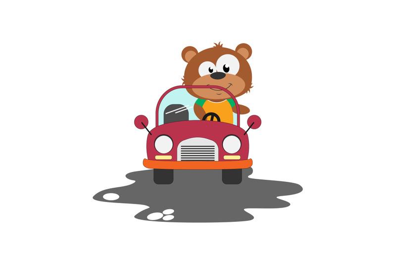 bear-ride-a-car