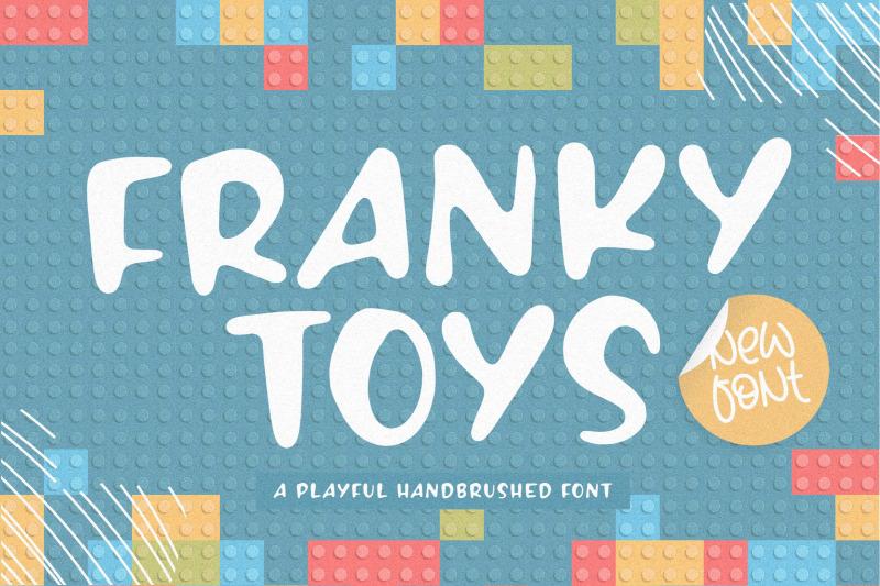 franky-toys-playful-handbrushed-font