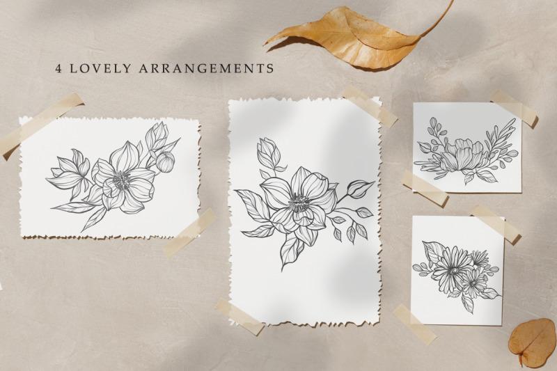 botanical-sketches-hand-drawn-floral-line-art-illustration
