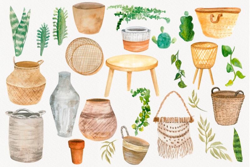 boho-clipart-home-decor-house-plant-clipart