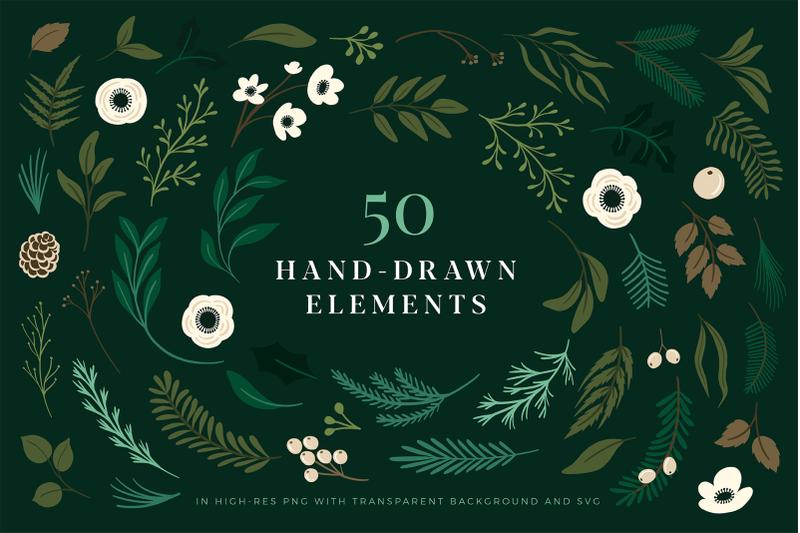 christmas-botanical-illustrations