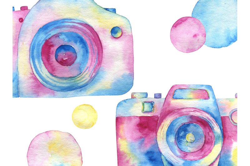 watercolor-rainbow-cameras-photographer-clip-art-photography-multicolo