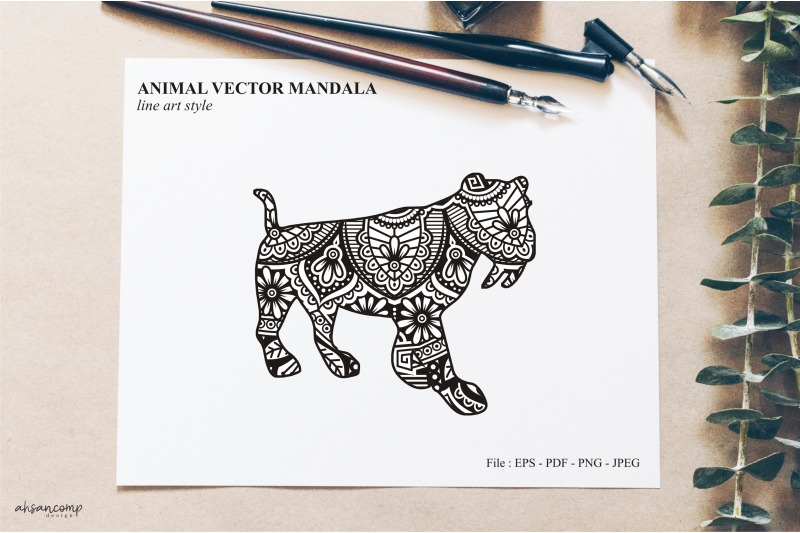 animal-vector-mandala-line-art-style