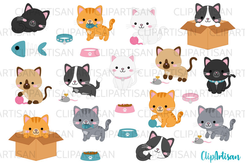 kittens-clipart-cute-kitty-cats-kitties-pets-graphics